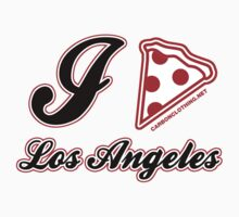 I Love Pizza Los Angeles by CarbonClothing