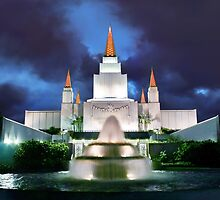 Oakland Temple Blue Sunset 20x30 by Ken Fortie