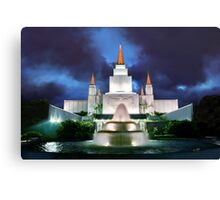 Oakland Temple Blue Sunset 20x30 Canvas Print