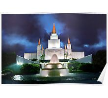 Oakland Temple Blue Sunset 20x30 Poster