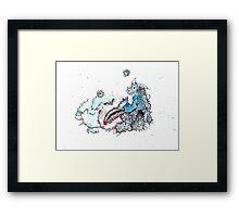 Friendly Monster Battle Framed Print