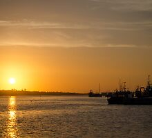Sunset at Lakes Entrance by Johann Vandendaallen