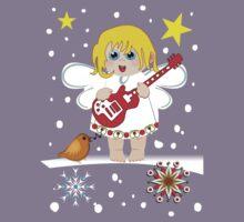 Music Christmas Angel Tee Kids Tee