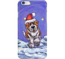 St. Bernard Christmas iPhone Case/Skin