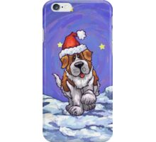 St. Bernard Christmas iPhone Case/Skin