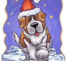 St. Bernard Christmas by ImagineThatNYC