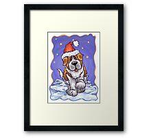 St. Bernard Christmas Framed Print