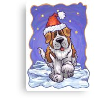 St. Bernard Christmas Canvas Print