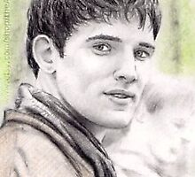 Colin Morgan miniature by wu-wei
