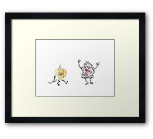 Monster Party Framed Print