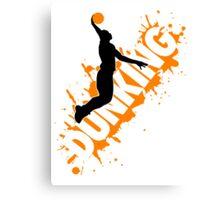 Basketball: Dunking Canvas Print