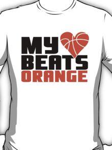 Basketball - My heart beats orange T-Shirt