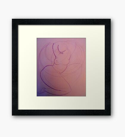 abstract davincii Framed Print