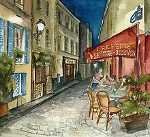 Paris - Montmartre by Night: Le Tire-Bouchon Creperie by heydomid