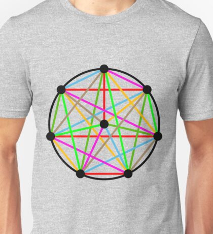 8 Pointed Complete Graph Unisex T-Shirt