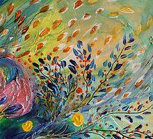 Original painting fragment 71 by Elena Kotliarker
