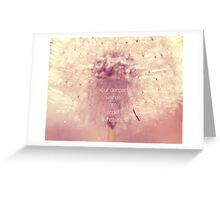 angel whispers Greeting Card