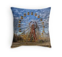 Prypiat/Chernobyl Abandoned Ferris Wheel Throw Pillow