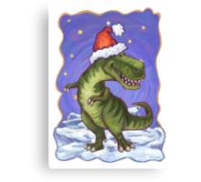 Tyrannosaurus Christmas Canvas Print