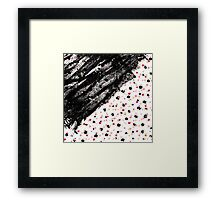 Pink, Black, & Faux Gold Paint Dots & Brushstrokes Framed Print