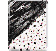 Pink, Black, & Faux Gold Paint Dots & Brushstrokes iPad Case/Skin