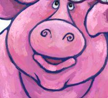 Pig Christmas Sticker