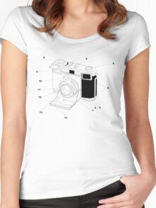 Contessa Retro Camera Women's Fitted Scoop T-Shirt