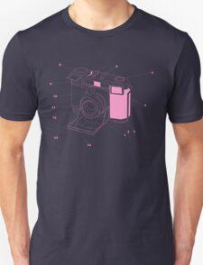 Contessa Retro Camera - Pink T-Shirt