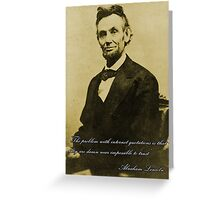 Internet Quotations with Abraham Lincoln Greeting Card