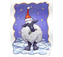 Sheep Christmas Poster