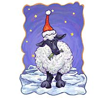 Sheep Christmas Photographic Print