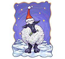 Sheep Christmas Photographic Print