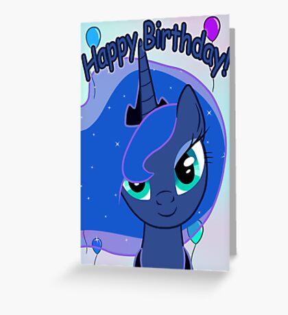 Princess Luna Birthday Card - Postcard My Little Pony Greeting Card