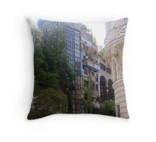 Building by Hundertwasser from the left side, Vienna Throw Pillow