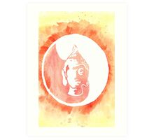 Buddha Watercolor Art Print