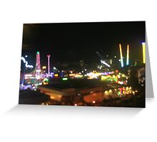 Vienna Prater at night Greeting Card