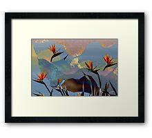 Nouveau Birds Of Paradise Framed Print