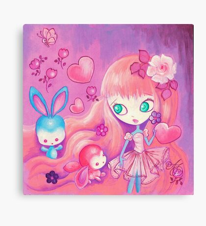 Hearts For Bunnies Canvas Print