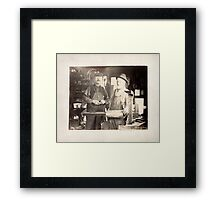 Cabinet Card: Early 20th Century Tinsmiths Framed Print