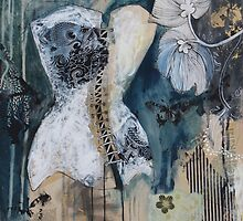 Black And White Corset by Maria Pace-Wynters