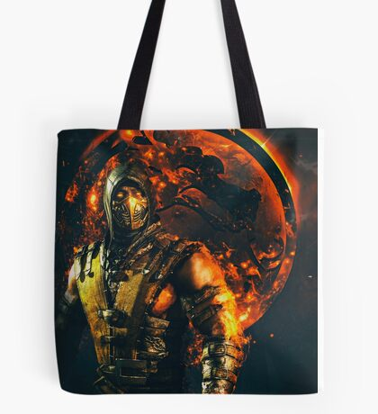 Mortal kombat Scorpion Tote Bag