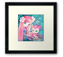 There, There, Kitty Framed Print