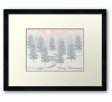 Snowy Day Winter Scene - Merry Christmas Card Framed Print