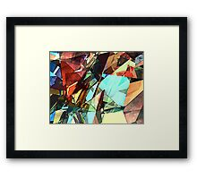 Coloring Shapes With Texture Framed Print