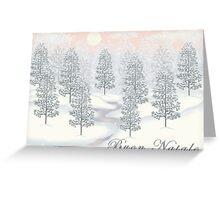 Snowy Day Winter Scene - Buon Natale Christmas Card Greeting Card