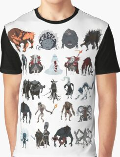 Bloodborne - chalice dungeons bosses Graphic T-Shirt