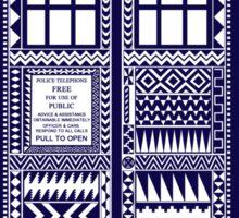 Aztec Tardis Sticker