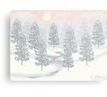 Snowy Day Winter Scene Print Metal Print