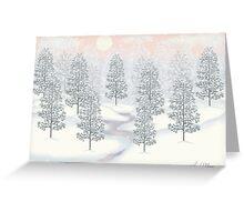 Snowy Day Winter Scene Print Greeting Card