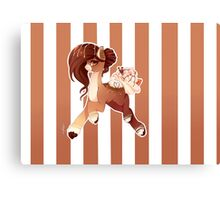 Hot Cocoa Christmas pony Canvas Print